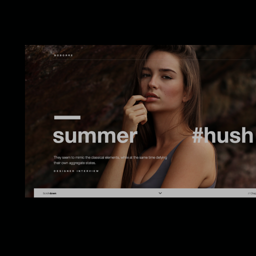 Hush - web design